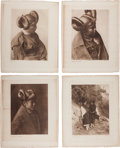 Photography:Official Photos, Edward S. Curtis, Photographer: Lot of Five Vintage Portfolio Photogravures from The North American Indian, Plus C... (Total: 6 Items)