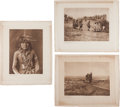 Photography:Official Photos, Edward S. Curtis, Photographer: Lot of Three Vintage Portfolio Photogravures from The North American Indian.... (Total: 4 Items)