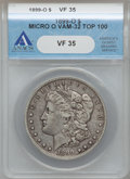 Morgan Dollars, 1899-O $1 Vam-32, Micro O VF35 ANACS. Top-100. PCGS Population(6/32).. From The Parcfeld Collection....