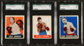 Boxing Cards:General, 1948 Leaf Boxing SGC Graded Trio (3). ...