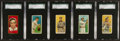 Baseball Cards:Lots, 1909-11 T206 & T205 Tobacco SGC Graded Collection (5). ...