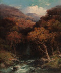 Fine Art - Painting, American:Antique  (Pre 1900), ANDREW MELROSE (American, 1826-1901). Forest Creek Bed. Oilon canvas. 24 x 20 inches (61.0 x 50.8 cm). Signed lower lef...