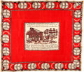 Political:3D & Other Display (pre-1896), William Henry Harrison: Museum Piece Silk Bandanna....