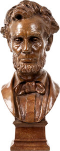 Political:3D & Other Display (1896-present), Abraham Lincoln: George Bissell Bronze Bust....