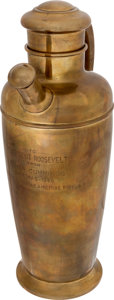 Political:Presidential Relics, Franklin D. Roosevelt: Personally-Owned Cocktail Shaker....