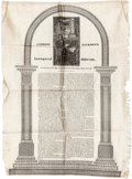 Political:Small Paper (pre-1896), Andrew Jackson: 1829 Inaugural Address on Silk....