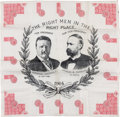 Political:Textile Display (1896-present), Roosevelt & Fairbanks: Jugate Polka Dot Bandanna....