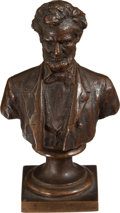 Political:3D & Other Display (1896-present), Abraham Lincoln: Diminutive Bissell Lincoln Bronze Bust....