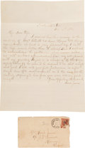 Autographs:Celebrities, Frank James Autograph Letter Signed...