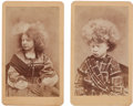 Photography:CDVs, Circus Performers: Blind Circassian CDV's.... (Total: 2 Items)