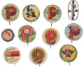 Advertising:Pocket Mirrors & Pinbacks, Eleven Shotgun Ammunition Advertising Badges.... (Total: 11 Items)