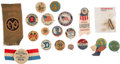 Military & Patriotic:WWI, World War I: Collection of Buttons, Ribbons, Etc.... (Total: 19Items)