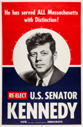 Political:3D & Other Display (1896-present), John F. Kennedy: 1958 Senate Re-election Poster....