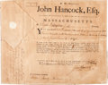 Autographs:Statesmen, John Hancock: A Boldly Signed 1784 Military Appointment as Governorof Massachusetts. ...
