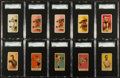 """Boxing Cards:General, 1910's-20's """"E"""" and """"W"""" Boxing SGC Graded Collection (10). ..."""