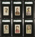 Baseball Cards:Lots, 1910-11 M116 Sporting Life SGC Graded Group (6). ...