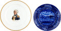Antiques:Decorative Americana, Marquis de Lafayette: Clews and Syracuse China Plates.... (Total: 2Items)