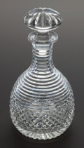 Decorative Arts, Continental:Other , AN ENGLISH CLEAR CUT GLASS WINE & SPIRIT DECANTER. England,Early 19th century. 10 inches high (25.4 cm). Provenance:. Pro...(Total: 2 Items)