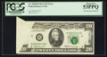 Error Notes:Foldovers, Fr. 2068-B $20 1969A Federal Reserve Note. PCGS About New 53PPQ.....