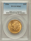 Indian Eagles: , 1926 $10 MS62 PCGS. PCGS Population (12040/14295). NGC Census:(13697/18133). Mintage: 1,014,000. Numismedia Wsl. Price for...