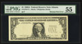 Error Notes:Missing Third Printing, Fr. 1915-F $1 1988A Federal Reserve Note. PMG About Uncirculated 55.. ...