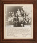 Photography:Official Photos, Quantrill's Guerillas: A Great 1920 Reunion Photograph, with Grizzled Veterans Posed with Harry Hoffman and Jesse James, Jr. ...