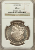 Morgan Dollars: , 1878-S $1 MS64 NGC. NGC Census: (14137/4490). PCGS Population(12895/4267). Mintage: 9,774,000. Numismedia Wsl. Price for p...