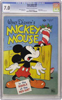 Four Color #79 Mickey Mouse (Dell, 1945) CGC FN/VF 7.0 Cream to off-white pages. It's the only Mickey Mouse story ever d...
