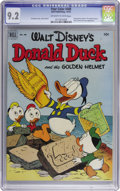 Golden Age (1938-1955):Funny Animal, Four Color #408 Donald Duck and the Golden Helmet (Dell, 1952) CGCNM- 9.2 Off-white to white pages. Writer/artist Carl Bark...