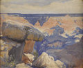 Texas:Early Texas Art - Impressionists, JOSÉ ARPA (1858-1952). The Balanced Rock - Grand Canyon,1926. Oil on canvas. 14in. x 17in.. Signed lower right. Signed,...