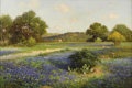 Paintings, ROBERT WOOD (1889-1979). Untitled Bluebonnet, 1941. Oil on canvas. 24in. x 36in.. Signed and dated lower left. Painted the...