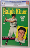 Golden Age (1938-1955):Non-Fiction, Ralph Kiner, Home Run King #nn Crowley Copy pedigree (Fawcett,1950) CGC NM- 9.2 Off-white pages. A Photo cover and a back c...
