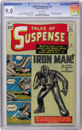 Silver Age (1956-1969):Superhero, Tales of Suspense #39 (Marvel, 1963) CGC VF/NM 9.0 White pages.Talk about your key issues! This one features the origin and...