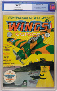 Wings Comics #1 (Fiction House, 1940) CGC VF+ 8.5 Cream to off-white pages. We love our Fiction House around here, and h...