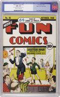 Golden Age (1938-1955):Humor, More Fun Comics #36 Mile High pedigree (DC, 1938) CGC NM+ 9.6 Off-white to white pages. In this beautiful Mile High copy, Th...