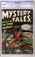 "Golden Age (1938-1955):Horror, Mystery Tales #1 (Atlas, 1952) CGC VF+ 8.5 Off-white to whitepages. The Overstreet listing for this title mentions ""Horror/..."