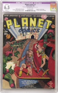 Golden Age (1938-1955):Science Fiction, Planet Comics #1 (Fiction House, 1940) CGC Apparent FN+ 6.5 Slight(A) Off-white pages. Science Fiction hits the comics in a...