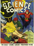Golden Age (1938-1955):Science Fiction, Science Comics #1 Mile High pedigree (Fox, 1940) Condition: GD. Adetached front cover and centerfold led to the modest grad...