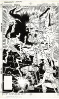 Original Comic Art:Covers, Rich Buckler and Dan Adkins - The Warlord #90 Cover Original Art(DC, 1985). Searching for an ancient treasure cache in the ...