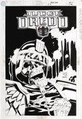Original Comic Art:Covers, J. H. Williams and Jimmy Palmiotti - Judge Dredd #10 Cover OriginalArt (DC, 1995). This creepy cover illustration measures ...
