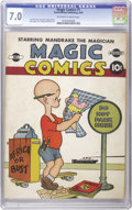Golden Age (1938-1955):Humor, Magic Comics #1 (David McKay Publications, 1939) CGC FN/VF 7.0 Off-white to white pages. Blondie and Mandrake were inside th...