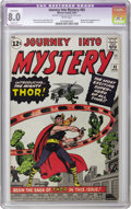 Silver Age (1956-1969):Superhero, Journey Into Mystery #83 (Marvel, 1962) CGC Apparent VF 8.0 Slight (P) White pages. The origin and first appearance of Thor ...