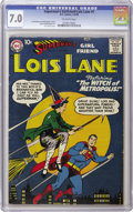 """Silver Age (1956-1969):Superhero, Superman's Girl Friend Lois Lane #1 (DC, 1958) CGC FN/VF 7.0Off-white pages. """"Nonexistent in VF or above"""" would seem to be ..."""