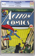 Golden Age (1938-1955):Superhero, Action Comics #34 (DC, 1941) CGC FN+ 6.5 Cream to off-white pages. While technically a mid-grade book, the defects here are ...