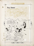 Original Comic Art:Covers, Art Bartsch - Mighty Mouse #19 Cover Original Art (St. John, 1950).Oil Can Harry might as well be spitting watermelon seeds...
