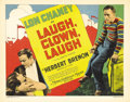"Movie Posters:Drama, Laugh, Clown, Laugh (MGM, 1928). Title Lobby Card (11"" X 14""). LonChaney, the Man of a Thousand Faces, stars in this heart-..."