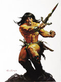 Original Comic Art:Sketches, Ken Kelly - Conan Hologram Card Oil Painting, Group of 9 (FPG, 1992). Ken Kelly ranks among the best of Conan's many illustr... (Total: 9 Items)