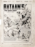 "Original Comic Art:Complete Story, Paul Isip - Fight Comics #20, Complete 4-page Story ""Bataan's One-Man Army"" Original Art (Fiction House, 1942). Here's a two..."