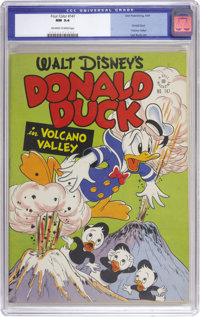 Four Color #147 Donald Duck (Dell, 1947) CGC NM 9.4 Off-white to white pages. Carl Barks has Donald and the boys in &quo...