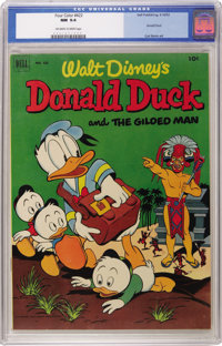 Four Color #422 Donald Duck and the Gilded Man (Dell, 1952) CGC NM 9.4 Off-white to white pages. This memorable Carl Bar...